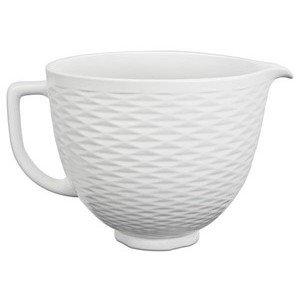 Keramikschüssel 4,83l weiss strukturiert KitchenAid