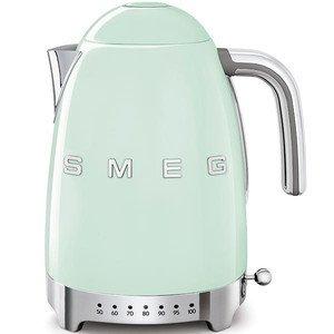 Wasserkocher 1,7 2400 Watt m. Temeraturanzeige grün smeg