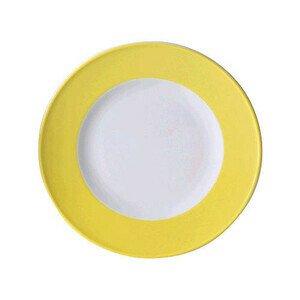 Teller flach 19 cm Fahne Solid Color zitrone Dibbern