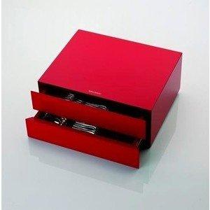 Kassette 133 tlg. rot lackiet Kassetten und Etuis Robbe & Berking
