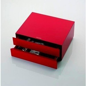 Kassette 39 tlg. rot lackiert Kassetten und Etuis Robbe & Berking