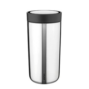 Thermobecher 0,4 l To Go Click silber Stelton