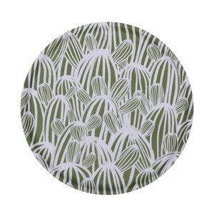 Tablett 38,5 cm Outback Cactus Green / White Eightmood