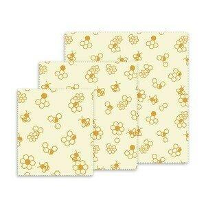 Bienenwachstücher-Set 3-tlg. Honigwaben Nuts Innovations AG