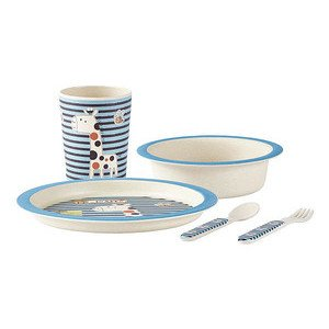 Kinder-Set 5 tlg. blau Bamboo blue KJ Collection