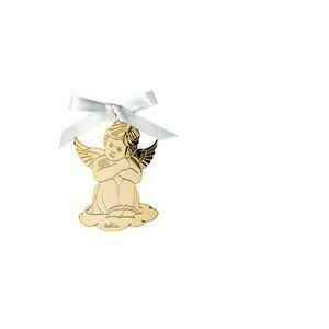 Engel sitzend 8,5x6cm Angels Gold Rosenthal
