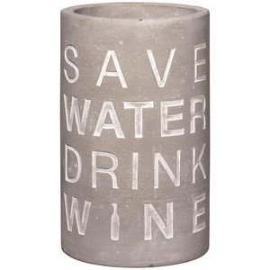 Weinkühler Beton Save Water Drink Wine Räder