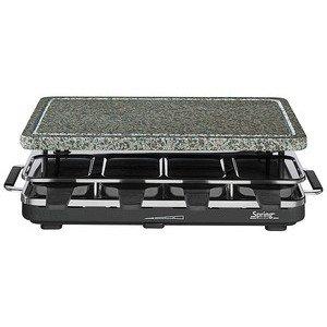 Raclette 8 Schwarz mit Granitstein Spring