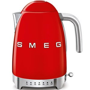 Wasserkocher 1,7 l 2400 Watt mit Temperaturanzeige rot smeg