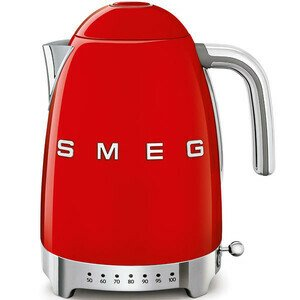 Wasserkocher mit Temperaturanzeige 50's Style rot smeg