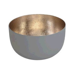 Windlicht Madras S grey / nudegold Gift Company