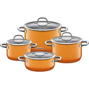 Topf-Set 4tlg. Passion Orange Silit
