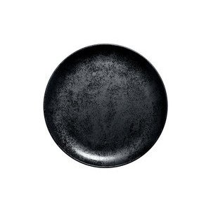 Teller flach coup 27 cm Höhe 2,7cm Karbon RAK