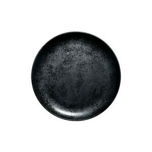 Teller flach coup 27x3 cm Fusion Karbon schwarz RAK