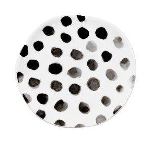 Teller 14 cm Mix & Match Punkte schwarz Räder