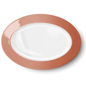 Platte oval 33cm Solid Color papaya Dibbern