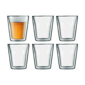 Glas doppelwandig 0,2 l Canteen 6er Set Bodum