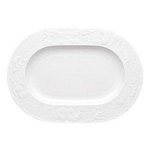 "Platte 33 cm x 23,5 cm ""Zauberflöte Weiß"" oval Rosenthal"