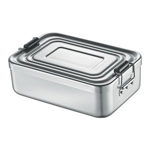 Lunchbox klein silber 18x12x5 cm Aluminium Küchenprofi