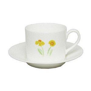 """Kaffee-Obertasse 250 ml """"Impression Blume Gelb"""" zylindrisch Dibbern"""