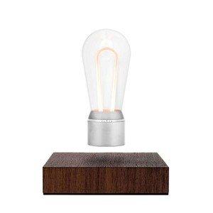Lampe FLYTE Nikola LED Lichtleiter Chrom / Walnussholz FLYTE