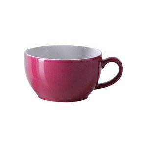 Kaffeeobertasse 250 ml Solid Color Bordeaux rund Dibbern
