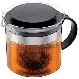 Bistro Nouveau Teekanne 1,0 L schwarz Flacher Deckel Bodum