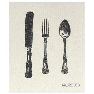 20x17 cm Spültuch Silver cutlery More Joy