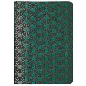 Heft A6 Metallic Shell green