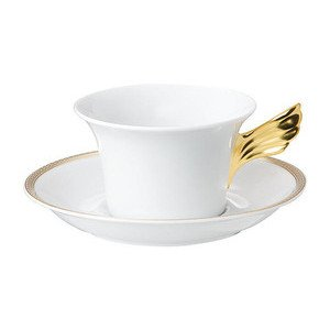 "Teetasse mit Untertasse ""Medusa Meandre d'Or Medaillon Meandre d'Or"" Versace"