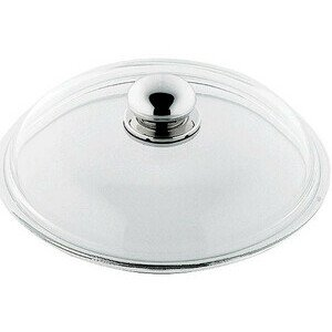 Glasdeckel 20cm mit Metallknauf Silit