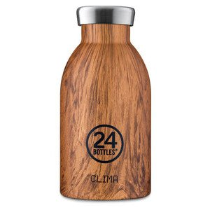 Thermo-Trinkflasche 0,33l Clim 24Bottles Sequoia Wood 24bottles