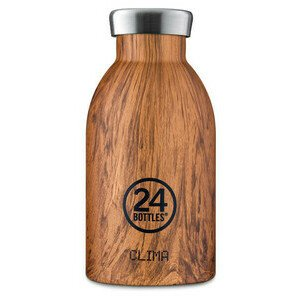 Thermo Trinkflasche 0,33 l Clima Bottle Sequoia Wood 24bottles