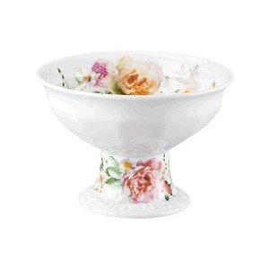 Konfektschale 280 ml x 12,5 cm Blumen mit Fuß Maria Pink Rose Rosenthal