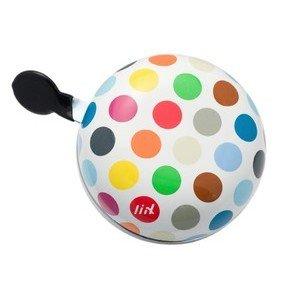 Fahrradklingel XXL Polka Big Dots Mix weiß Liix