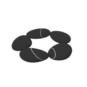 Untersetzer Steine silikon schwarz Toast Living