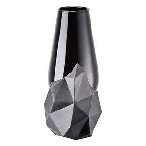 Vase 27 cm schwarz Geode Rosenthal