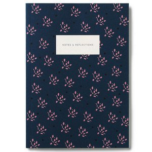 Small Softcover Notebook KARTOTEK // Floral Navy Mark's Europe