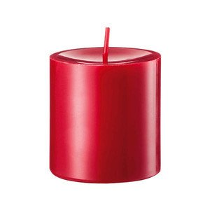 Stumpen 80/80 gegossen 200 Zinnober Engels Kerzen