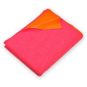 140x180 cm Plaid Doubleface orange/magenta Merinowolle Lenz & Leif