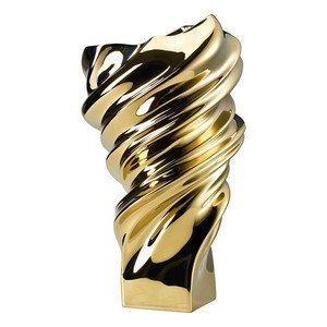 Vase 32 cm Squall Gold titanisiert Rosenthal