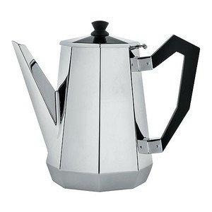Kaffeekanne,Griff und Knopf aus Bakelit Edelstahl glänzend poliert cl 100 Alessi