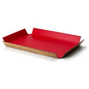 Tablett rutschfest 45x34 cm rot Continenta