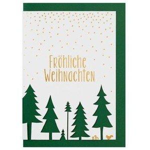 Stanzkarte Fröhliche Weihnachten Räder
