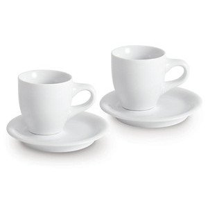 """Espressotasse mit Untertasse 4-tlg. 50 ml """"Cafe Sommelier weiss"""" Kahla"""