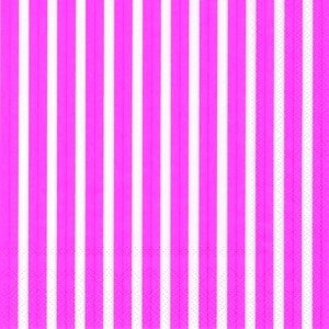 Servietten 33 x 33 cm Stripes Again pink IHR