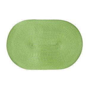Tischset hellgrün oval 45 cm x 31 cm naturähnliche Kunstfaser Continenta