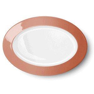 Platte oval 29cm Solid Color papaya Dibbern