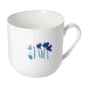 Becher m.H. 0,32 ltr. Impression Blume blau Dibbern