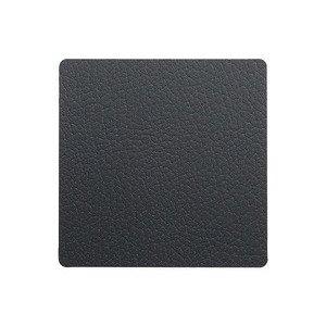 10x10 cm Untersetzer square black/Bull LINDDNA